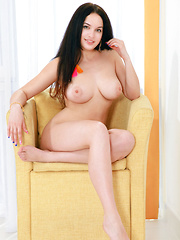 Posing for her first series, Marisa Nicole wows us in her debut with her gorgeous body blessed with beautiful large breasts with enticingly puffy nipp